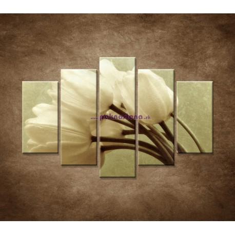 Obrazy na stenu - Kytica tulipánov - 5dielny 150x100cm