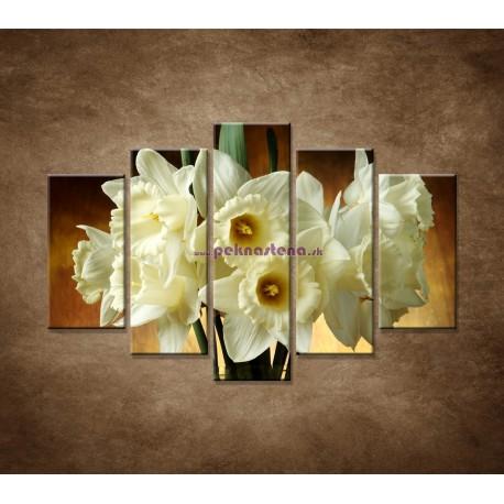 Obrazy na stenu - Narcisy - 5dielny 150x100cm