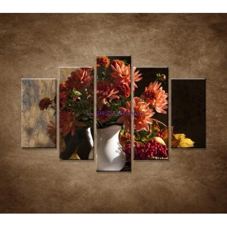 Obrazy na stenu - Kytica - 5dielny 150x100cm
