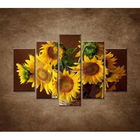 Obrazy na stenu - Slnečnice - 5dielny 150x100cm