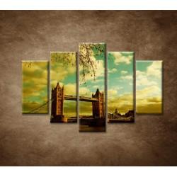 Obrazy na stenu - Londýn - Tower Bridge - 5dielny 150x100cm