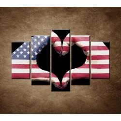 Obrazy na stenu - Amerika v srdci - 5dielny 150x100cm