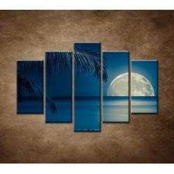 Obrazy na stenu - More v noci - 5dielny 150x100cm