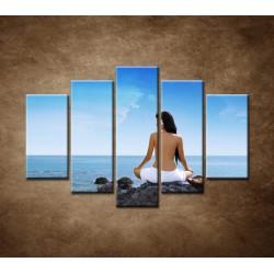Obrazy na stenu - Relax pri mori - 5dielny 150x100cm