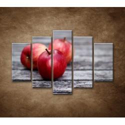 Obrazy na stenu - Červené jablká - 5dielny 150x100cm