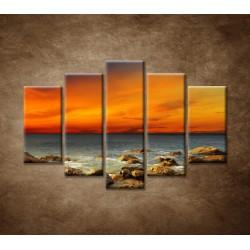 Obrazy na stenu - Červené zore - 5dielny 150x100cm