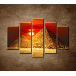 Obrazy na stenu - Pyramídy - 5dielny 150x100cm
