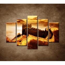 Obrazy na stenu - Čínsky múr - 5dielny 150x100cm