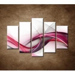 Obrazy na stenu - Ružová vlna - 5dielny 150x100cm