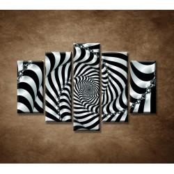 Obrazy na stenu - 3D špirála - 5dielny 150x100cm
