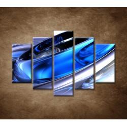 Obrazy na stenu - Modré kruhy - 5dielny 150x100cm