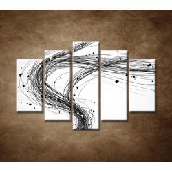 Obrazy na stenu - Abstraktné čiary - 5dielny 150x100cm