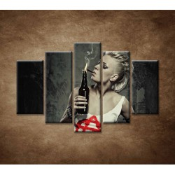 Obrazy na stenu - Rockerka - 5dielny 150x100cm