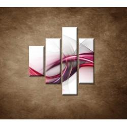 Obrazy na stenu - Ružová vlna - 4dielny 80x90cm