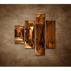 Obrazy na stenu - Vinárska pivnica - 4dielny 80x90cm