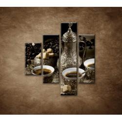 Obrazy na stenu - Kanvica kávy - 4dielny 80x90cm