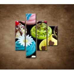 Obrazy na stenu - Koláčiky - 4dielny 80x90cm