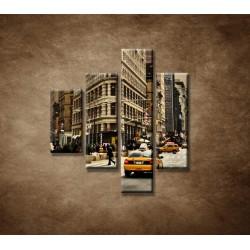 Obrazy na stenu - Žehlička - New York - 4dielny 80x90cm