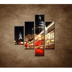 Obrazy na stenu - Nočný Londýn - 4dielny 80x90cm