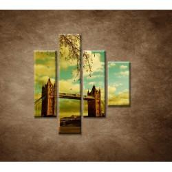 Obrazy na stenu - Londýn - Tower Bridge - 4dielny 80x90cm