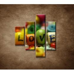 Obrazy na stenu - Love - 4dielny 80x90cm