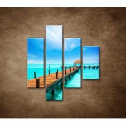 Obrazy na stenu - Mólo - 4dielny 80x90cm