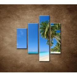 Obrazy na stenu - Pláž s palmami - 4dielny 80x90cm