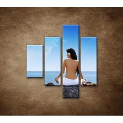Obrazy na stenu - Relax pri mori - 4dielny 80x90cm