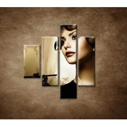 Obrazy na stenu - Žena s cigaretou - 4dielny 80x90cm