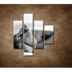 Obrazy na stenu - Detské nohy - 4dielny 80x90cm