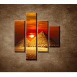 Obrazy na stenu - Pyramídy - 4dielny 80x90cm