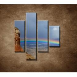 Obrazy na stenu - Dúha na horách - 4dielny 80x90cm