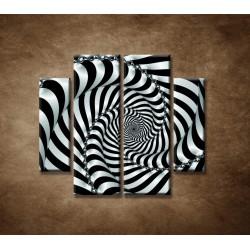 Obrazy na stenu - 3D špirála - 4dielny 100x90cm