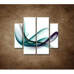 Obrazy na stenu - Elegantná špirála - 4dielny 100x90cm