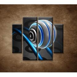 Obrazy na stenu - 3D guľa - 4dielny 100x90cm