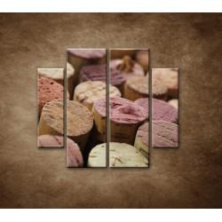 Obrazy na stenu - Korky od vína - 4dielny 100x90cm