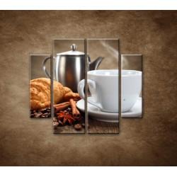 Obrazy na stenu - Raňajky - 4dielny 100x90cm