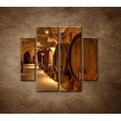 Obrazy na stenu - Vinárska pivnica - 4dielny 100x90cm