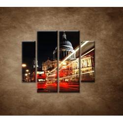 Obrazy na stenu - Nočný Londýn - 4dielny 100x90cm