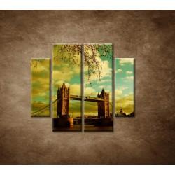 Obrazy na stenu - Londýn - Tower Bridge - 4dielny 100x90cm