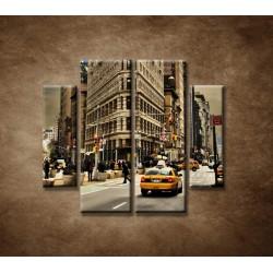 Obrazy na stenu - Žehlička - New York - 4dielny 100x90cm