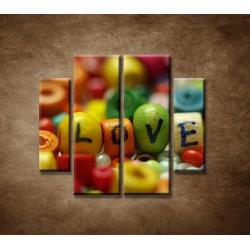 Obrazy na stenu - Love - 4dielny 100x90cm