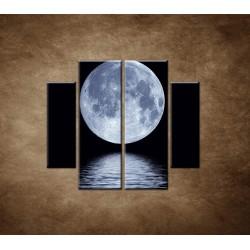 Obrazy na stenu - Mesiac nad hladinou - 4dielny 100x90cm