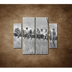 Obrazy na stenu - Robotníci na traverze - 4dielny 100x90cm