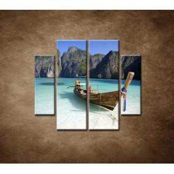 Obrazy na stenu - Zátoka - 4dielny 100x90cm