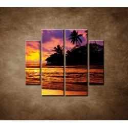 Obrazy na stenu - Farebná príroda - 4dielny 100x90cm