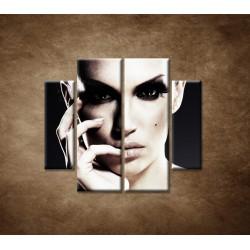 Obrazy na stenu - Tajomná žena - 4dielny 100x90cm