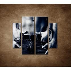 Obrazy na stenu - Muž a žena - 4dielny 100x90cm