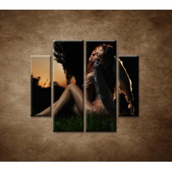 Obrazy na stenu - Anjel - 4dielny 100x90cm