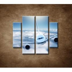 Obrazy na stenu - Boeing 747 - 4dielny 100x90cm